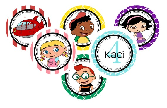 Little Einsteins 2 Inch Personalized Cupcake Toppers -  Digital File - Print at Home