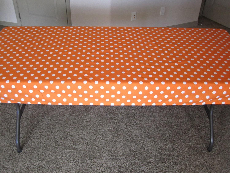 Orange polka dot tablecloth for Black polka dot tablecloth