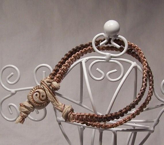 Yin Yang Hippie Hemp Bracelet