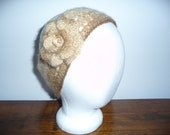 Headband in Brownish colores with Detachable Flower for women/girls/teens