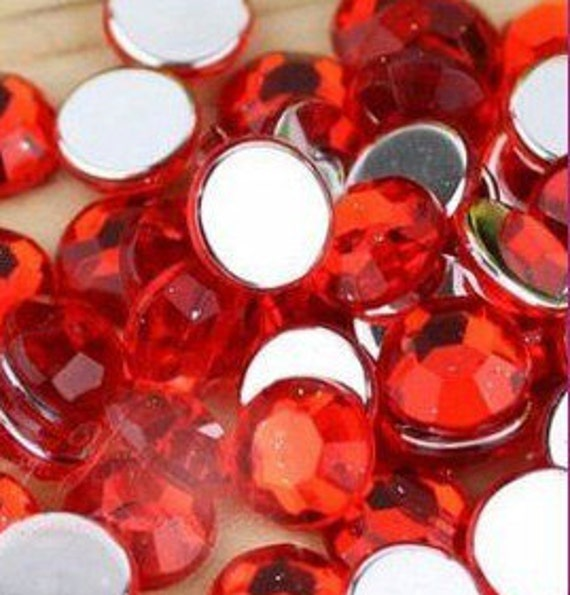 RED Color Acrylic Faceted Rhinestones Set for CRAFTING - 4mm 200pcs from Etsy.com at gooddealsinthebox