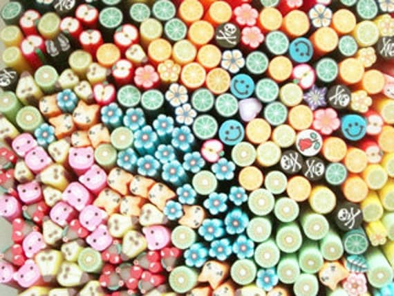 20 pcs Good Deals In the Box Polymer Clay Cane sticks Mix for crafting, use your imagination