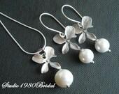 Bridesmaid jewelry, Wedding jewelry, Wedding necklace earrings set, Bridemaids jewelry, Bridal jewelry, bridesmaid gift