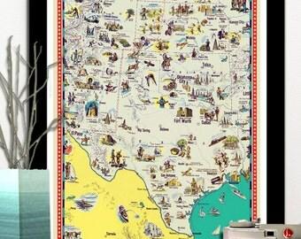 Texas map kid  Etsy