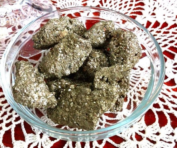 Natural Pyrite - Use in spells and mojo bags on Altar for Money-Prosperity-Business-Luck-Success -Hoodoo-Spiritual-Wicca-Pagan-Magic