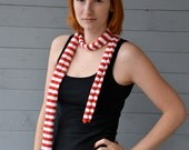 Colorful Striped Cotton Jersey Scarf