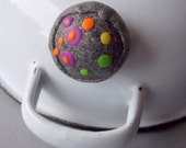 Handmade  Magnet Multicolored Polymer Clay Paper Holder