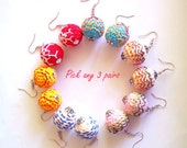 Pick any 3 Pairs of Crochet Earrings / of your choice / crocheted jewelry holiday sale