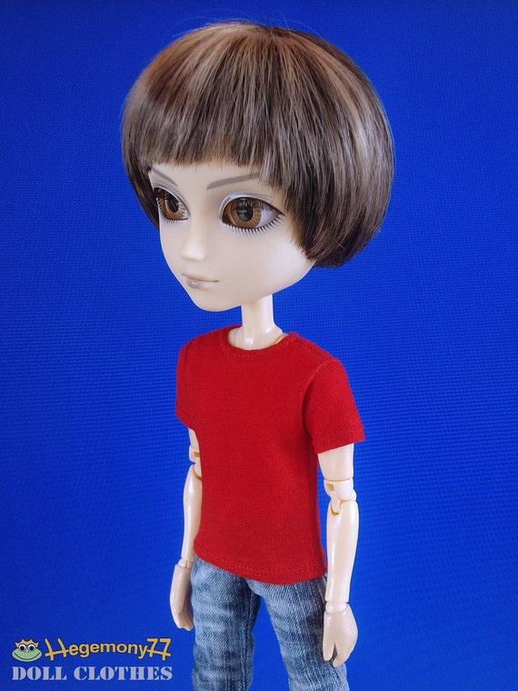 Taeyang Ken doll size red T shirt
