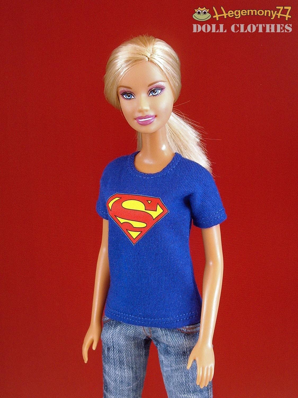 barbie and taeyang doll size superman t shirt. Black Bedroom Furniture Sets. Home Design Ideas