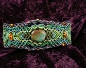 Colourful Macrame Bracelet with Turquoise and Amber