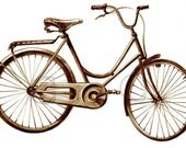 Antique Vintage Ride  Bicycle Art Digital  Download JPEG Images for Prints, Towels,Tote Bags, Pillows, and more