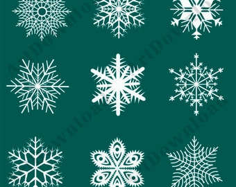Instant Download -  Snowflakes Download, PNG , Clip art Snowflakes,Christmas Snowflakes ,Digital Scrapbooking ,Printable Snowflakes