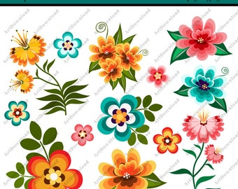 instant download digital clip art flowers clip art flowers digital paper flowers