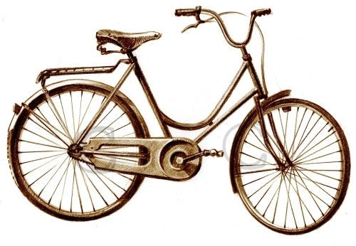 how to draw a vintage bicycle