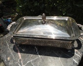 Vintage Silver Serving Platter/Dish
