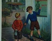 Vintage Calendar Art - A Lesson in Patriotism by F. R. Harper -1940s