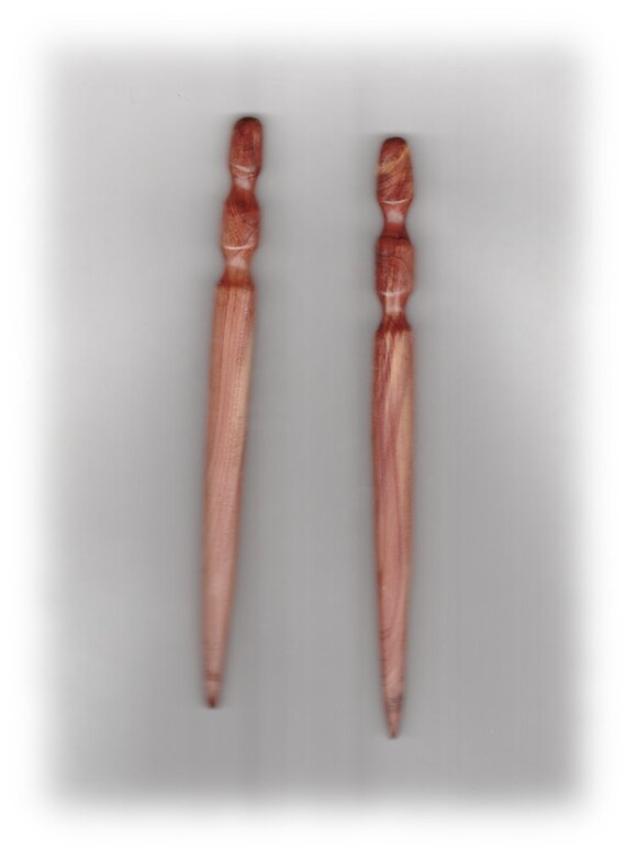 Red Cedar Hair Sticks 6 inches nice grain FREE U.S. SHIPPING
