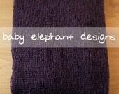 Stretchy Textured Knit Photo Wrap - EGGPLANT