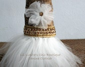 Snakedelic Tullerific Fantasy Dream Dress for the Small Dog Complete with Bronze Sequin Trim