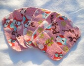 Peace Owl Cloth Wipes - Set of 6 - Ready To Ship