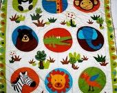 Wild Friends Minky Toddler Blanket