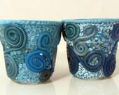 Blue Candle Votives,Votive Glass,Votive Cups,Glass Votive Holders,Candle Holders,Home Decor