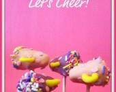 Cheerleader Megaphone Cake Pops