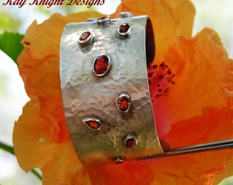 Incredible Orange Sapphire original cuff by award winning designer Kay Knight