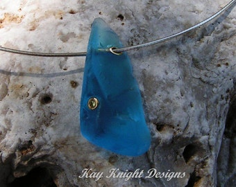 Kashmir blue Topaz necklace