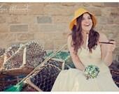 The Ava Bouquet - vintage green alternative bridal button bouquet