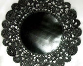 Large Black Paper Doilies - 3 doilies - 10 inch, black and perfect for New Year's eve and the holidays