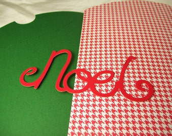 2 large pillow gift boxes- 5 x 7 inches closed- with gift tags in red and green