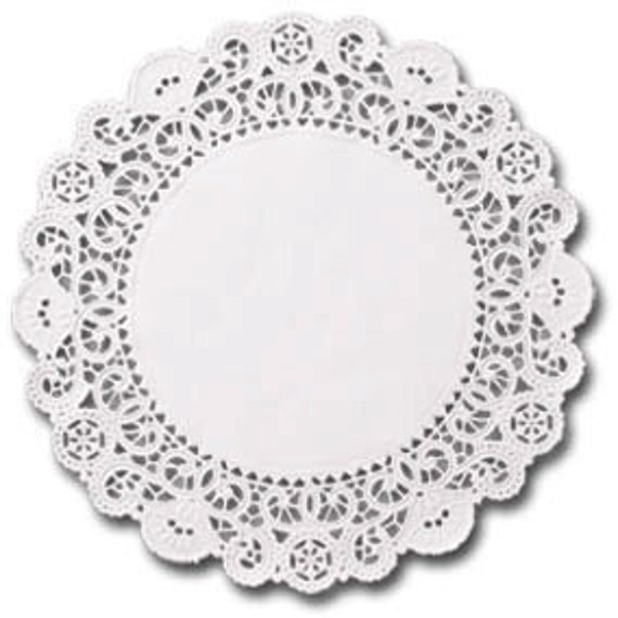 English Paper Doilies- 25 doilies- 4 inch, white, lacy Dollar Sale- Cyber Monday