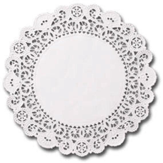 100 white 4 inch English Paper Doilies, round doilies, plain center doilies, paper coasters, party decorations, SALE