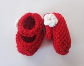 0-6 Month Baby Girl / Boy Mary Jane Booties - Red
