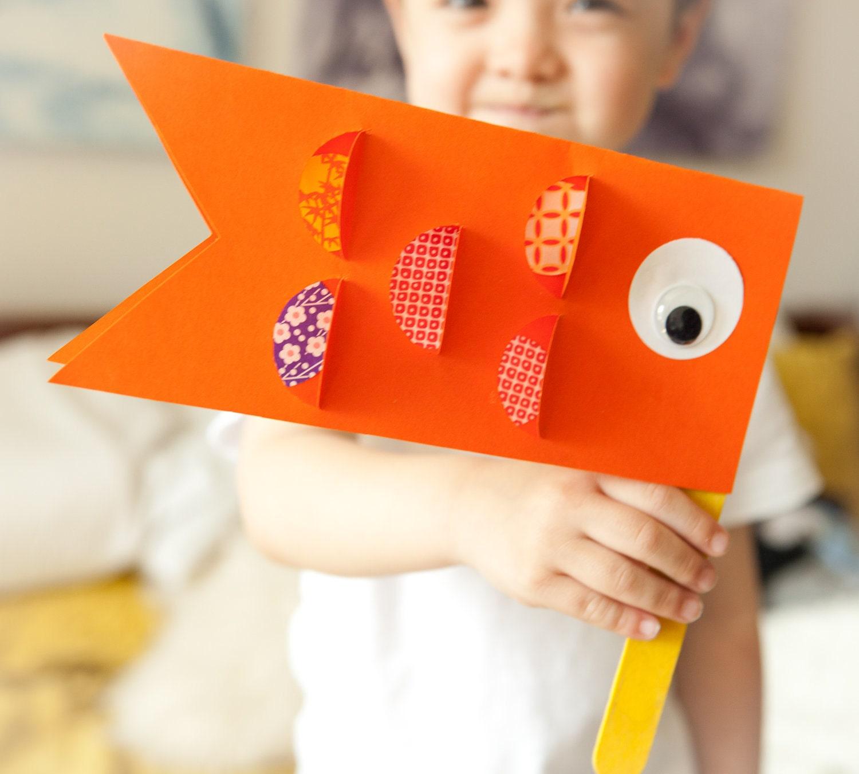 Kids craft kit japanese children 39 s day carp koi nobori for Japan craft