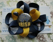 Handmade For Your Cutie Patootie University of Notre Dame NON Slip Hair Clip