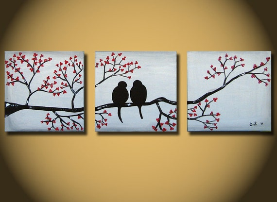 Wedding Gift Paintings: Items Similar To Silver Painting, Wedding Gift, Large Love
