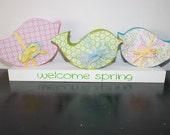 Spring Bird Trio - Home Decor - Ready to Ship