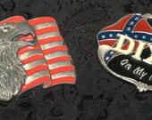 2 vintage belt buckles lot