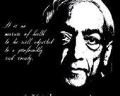 Jiddu Krishnamurti Quote T Shirt Radical Change in Mankind FREE US SHIPPING