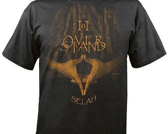 Rastafari I n I Overstand Selah Dreadlocks on Black T Shirt  FREE US SHIPPING