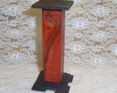 Fern stand or pedestal from exotic wood OOAK dollhouse miniature End of Year Sale