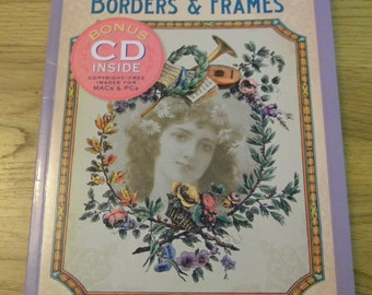 Borders Frames clipart  book with cd copyright free