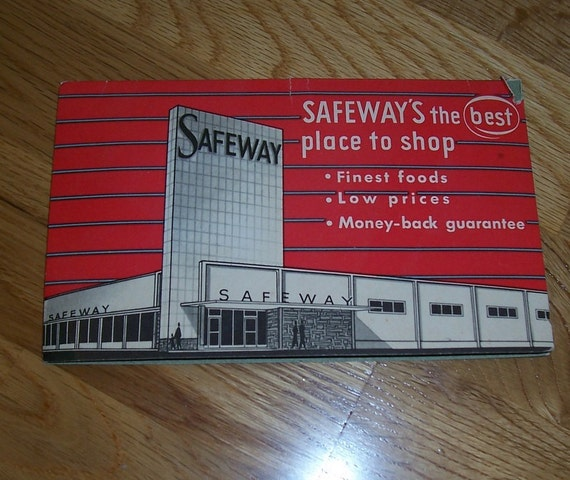 Safeway Grocery needle book made in Western Germany