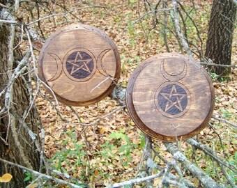 Horned God and Goddess Offering/ Altar Tile
