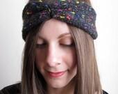 Hand-Knit Flecked Headband