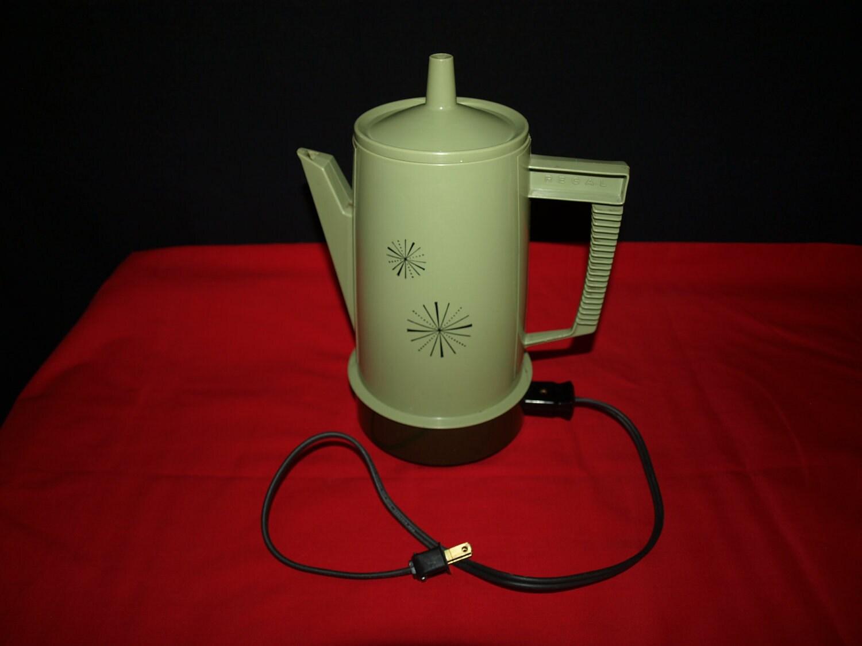 Retro Regal Green Electric Percolator Coffee Pot by begladisland