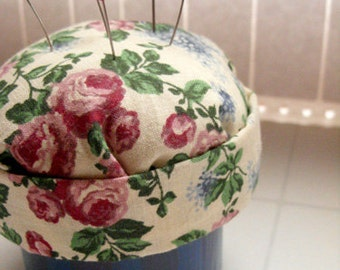 Floral Pincushion Box - sewing box, flower box, rose, lilac